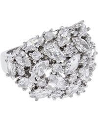 Coast - Silver 'clara' Crystal Ring - Lyst