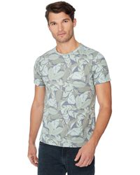 Red Herring - Dark Grey Leaf Print T-shirt - Lyst