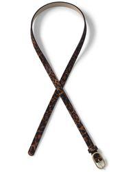 Lands' End - Multi Skinny Calf Hair Leather Belt - Lyst