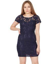 Tenki - Blue Plain Floral Lace Dress - Lyst