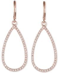 Anne Klein - Rose Gold 'social' Teardrop Earrings - Lyst