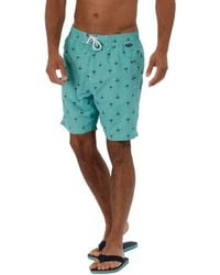 Regatta - Green 'hadden' Swim Board Shorts - Lyst