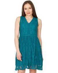 Apricot - Green Mesh A-line Dress - Lyst