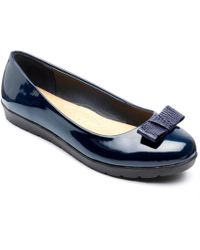 Freestep - Navy 'faye' Ballerina Shoes - Lyst