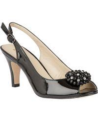 Lotus - Black Patent 'elodie' High Stiletto Heel Slingbacks - Lyst
