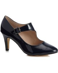 Lotus - Navy Patent 'laurana' High Stiletto Heel Court Shoes - Lyst