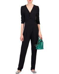 df217ce5ff36 Jolie Moi - Black Twist Knot Front Jumpsuit - Lyst