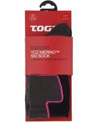 Tog 24 - Navy Expert Merino/diamond Dry Ski Sock - Lyst