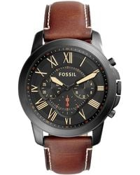 Fossil - Men's Chronograph Leather Watch Fs5241 - Lyst