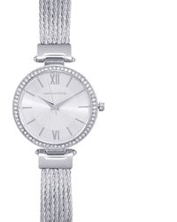 Red Herring - Ladies Silver Plated Mesh Cable Strap Watch - Lyst