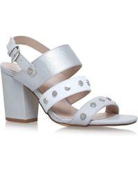 Nine West - Silver 'bold' High Heel Sandals - Lyst
