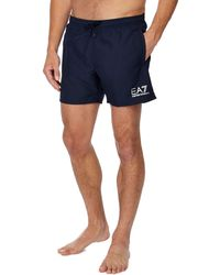 Armani - Navy Swim Shorts - Lyst