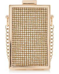 Dune - Gold 'spectacular' Micro Box Clutch Bag - Lyst