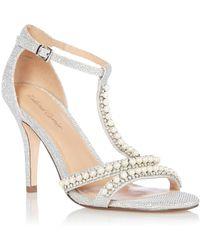 1cf759518b5 Roland Cartier Gold  minda  Mid Stiletto Heel Ankle Strap Sandals in ...