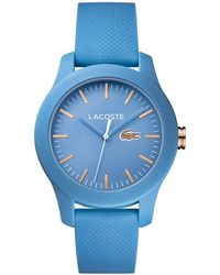 Lacoste - Ladies Blue Strap Watch - Lyst