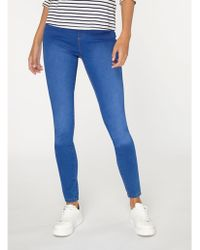 Dorothy Perkins - Tall Bright Blue Eden Jeggings - Lyst