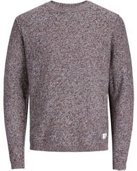 Jack & Jones - Grey'uber' Knitted Jumper - Lyst