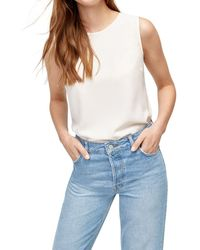 Warehouse - Satin Tipped Shell Top - Lyst