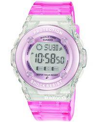 G-Shock - Ladies Pink 'baby G' Digital Watch Bg-1302-4er - Lyst