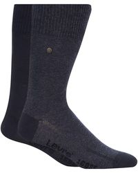 Levi's - Pack Of Two Plain Blue Socks - Lyst
