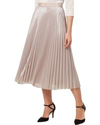 Hobbs - Light Gold 'jade' Skirt - Lyst