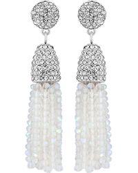 Jenny Packham - Designer Beaded Tassel Earring - Lyst