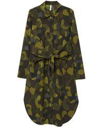Mango - Khaki 'toky' Long Sleeves Shirt Dress - Lyst