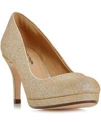 Roland Cartier - Gold 'baley' Glitter Platform Court Shoes - Lyst