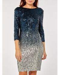 Dorothy Perkins - Teal Ombre Sequin Embellished Bodycon Dress - Lyst