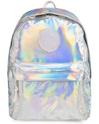 5bf92844e655 Hype - Silver Holographic Embroidered Logo Backpack - Lyst