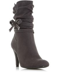 Grey 'Rayna' side bow detail calf boots clearance new arrival cheap sale 2015 new looking for for sale ieTJcOrl