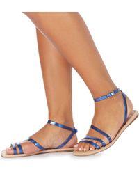 Faith - Blue 'joan' Ankle Strap Sandals - Lyst