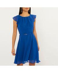 Dorothy Perkins - Billie & Blossom Petite Cobalt Belted Dress - Lyst