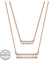 J By Jasper Conran - Designer Crystal Baguette Necklace - Lyst