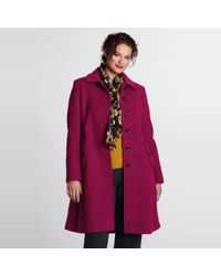 Lands' End - Purple Plus Luxe Wool Swing Car Coat - Lyst