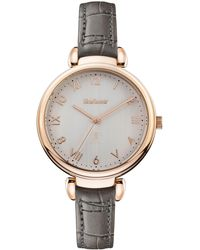 Barbour - Ladies Grey 'qa' Analogue Leather Strap Watch Bb078rsgy - Lyst