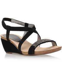 Anne Klein - Black 'jasia2' Low Wedge Sandal - Lyst