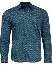 Raging Bull - Mid Blue Multi Floral Print Shirt - Lyst