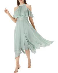 Coast - Sage Green 'charley' Trim Detail Dress - Lyst