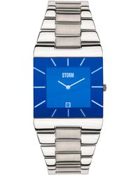 Storm - Men's Lazer Blue Dial Slimline Bracelet Watch Omari Xl Blue - Lyst