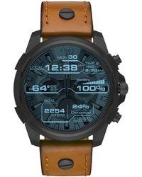 DIESEL - Men's Tan 'orologio' Full Guard Smartwatch Dzt2002 - Lyst