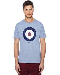 Ben Sherman - Dark Blue Striped Target Print T-shirt - Lyst