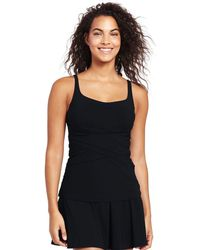 Lands' End - Black Shape And Enhance Tankini Top - Lyst