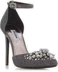 a4c61ceba9 Dune Gold 'daenerys' Studded High Heel Court Shoes in Metallic - Lyst