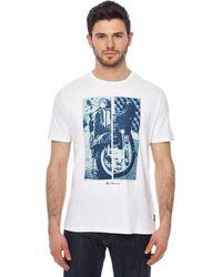 Ben Sherman - White Graphic Print T-shirt - Lyst