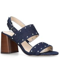 Nine West - Blue 'gabronica' Mid Heel Sandals - Lyst