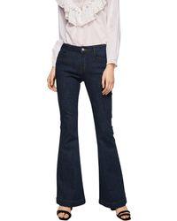 Mango - Dark Blue 'flare' Flared Jeans - Lyst