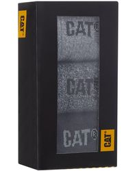 Caterpillar - 3 Pack Grey Boot Socks In A Gift Box - Lyst