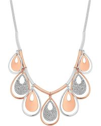 Red Herring - Gold And Silver Peardrop Statement Necklace - Lyst