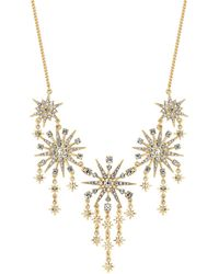 Red Herring - Gold Crystal Starburst Statement Necklace - Lyst